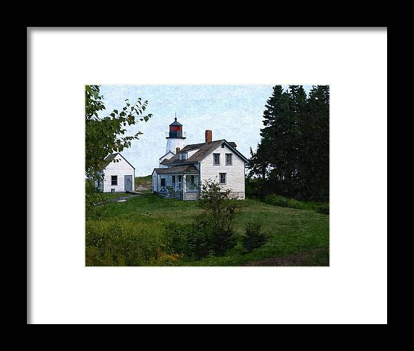 New England Lighthouse Framed Print featuring the photograph Burnt Island Maine by Nancie DeMellia