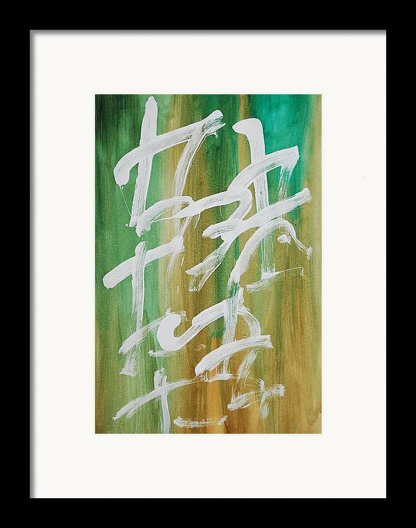 Chinese Framed Print featuring the painting Chinese Numbers by Lauren Luna