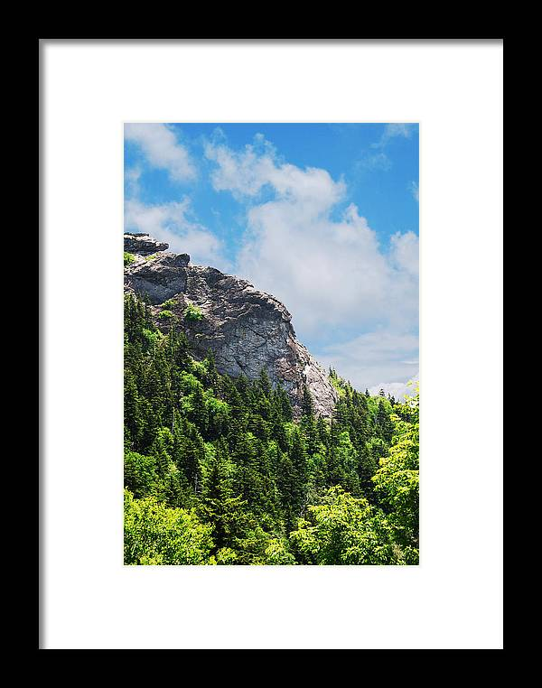 Rock Framed Print featuring the photograph Devil's Courthouse Blue Ridge Mountains by Patricia Motley