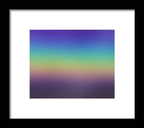 Evening.colors.silince.rest.sky.sea.clean Sky.violet.blue.yellow.rose.darkness. Framed Print featuring the digital art Evening by Dr Loifer Vladimir