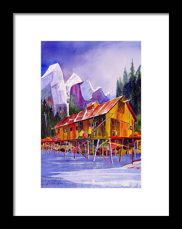 Mountains Framed Print featuring the painting Fishermans Dock by Buster Dight