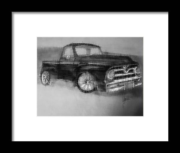 Framed Print featuring the mixed media Ford Pick Up by Kevin Burden