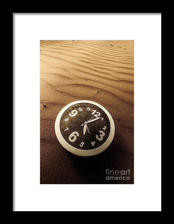 Time Framed Print featuring the photograph In Waves Of Lost Time by Jorgo Photography - Wall Art Gallery