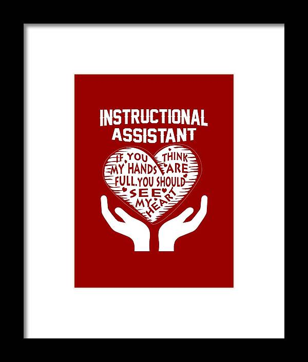 Instructional Assistant Framed Print By Sophia