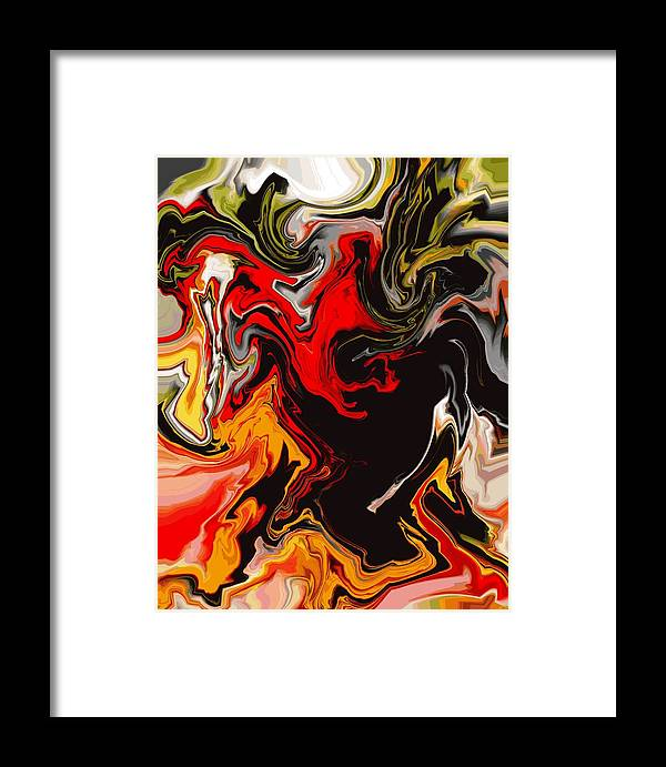 Abstract Framed Print featuring the digital art Love Escape by Abel Padilla