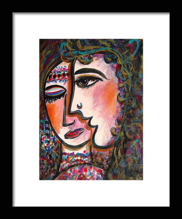 Lovers Framed Print featuring the painting Lovers by Natalie Holland