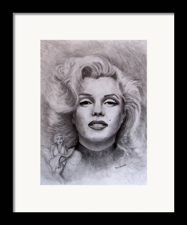 Marilyn Framed Print featuring the drawing Marilyn by Jack Skinner