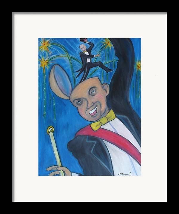 Brian Project Framed Print featuring the painting Master Of Ceremonies by Todd Peterson