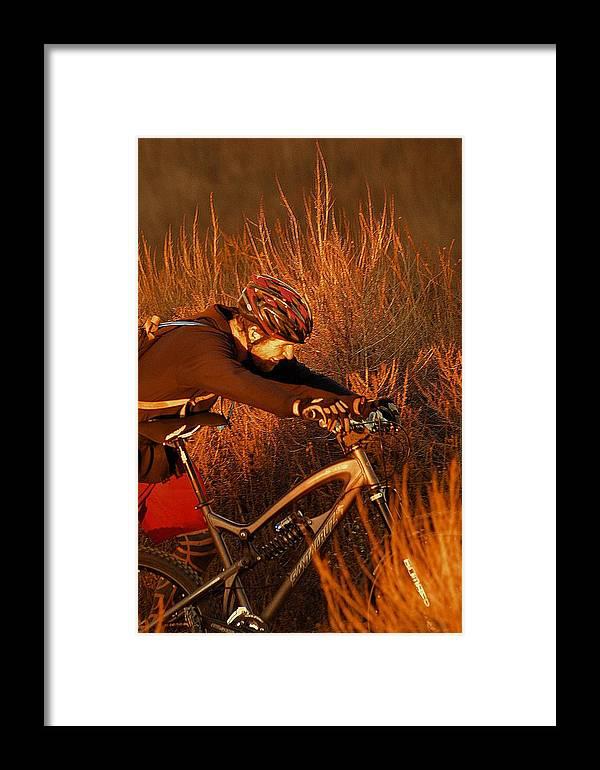 Mountain Framed Print featuring the photograph Mountain Bike by Viktor Savchenko