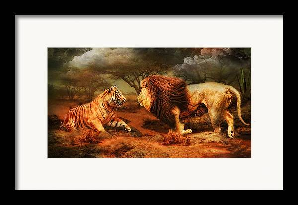 Lion Framed Print featuring the photograph No Mercy by Trudi Simmonds
