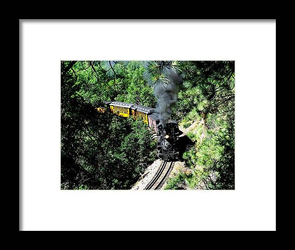 Train Framed Print featuring the photograph Nostalgic Moments by Carol Milisen
