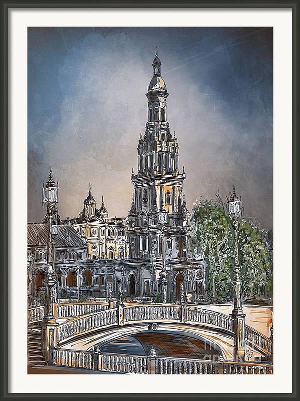 Plaza de Espana in Seville by Andrzej Szczerski