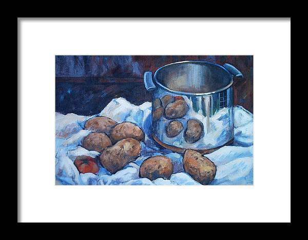 Still Life Framed Print featuring the painting  Pomme De Terre by Dianna Willman