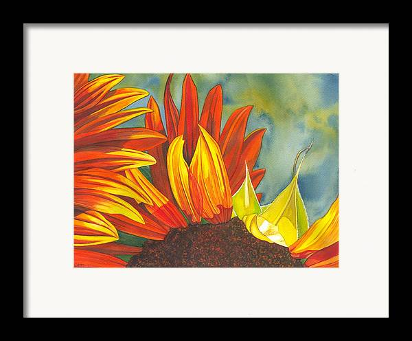 Sunflower Framed Print featuring the painting Ray by Catherine G McElroy