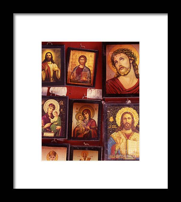 Faith Framed Print featuring the photograph Religious Icons by Steve Outram