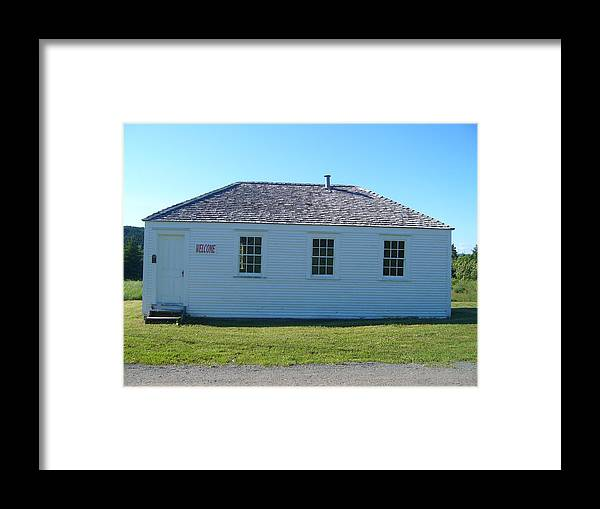 Landscape Framed Print featuring the photograph School House by Sharon Stacey