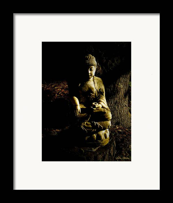 Buddha Framed Print featuring the photograph Seeing The Light by Sabine Stetson