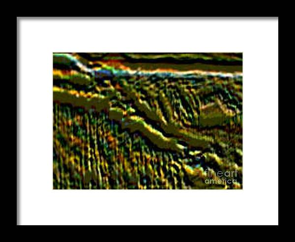 Canyons Framed Print featuring the digital art South Rim- N -green Grandeur by Brenda L Spencer