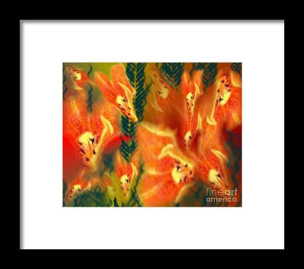 Florals Framed Print featuring the digital art Symphonic Dance by Brenda L Spencer