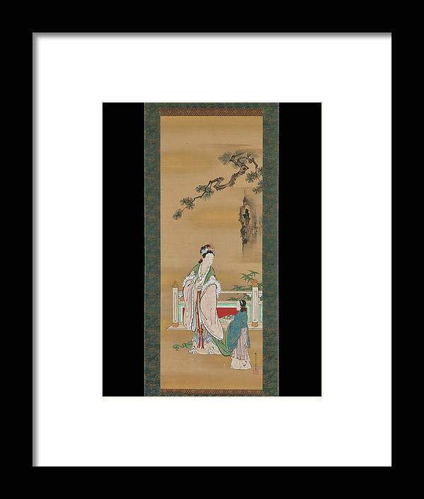 Kano Osanobu - Seiobo Framed Print featuring the painting The Queen Mother Of The West by Eastern Accent