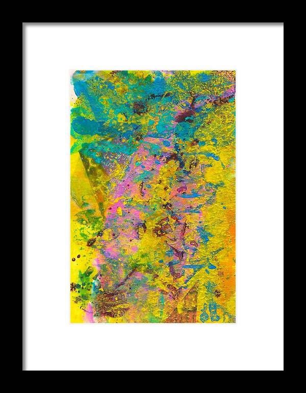 Abstract Landscapes Framed Print featuring the mixed media Tinge Of Pink by Jerry Hanks