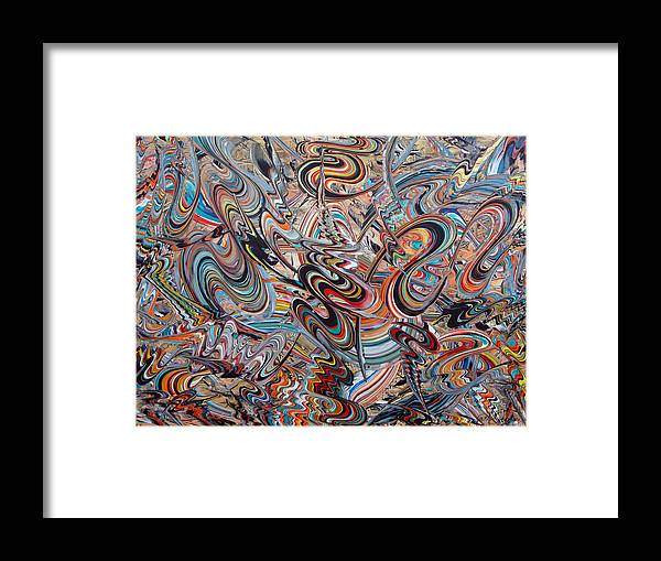 New Technique Framed Print featuring the painting Tomorrow Dreams by Yucel Donmez