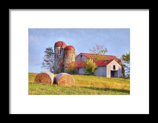 Barn Framed Print featuring the photograph Two by Mitch Cat