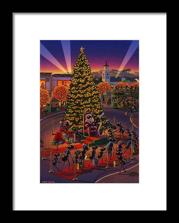Ants Framed Print featuring the painting Visiting Santa Anta by Robin Moline