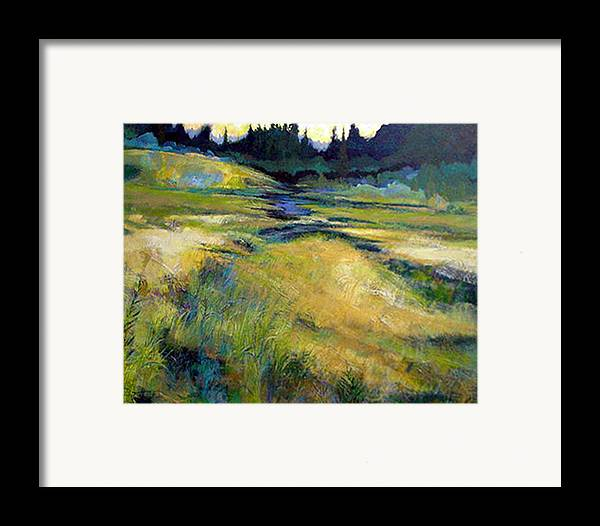 Landscape Framed Print featuring the painting Water Source by Dale Witherow