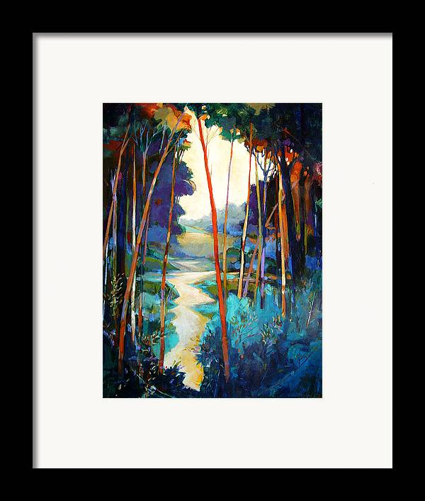 Landscape Framed Print featuring the painting Waterpath by Dale Witherow