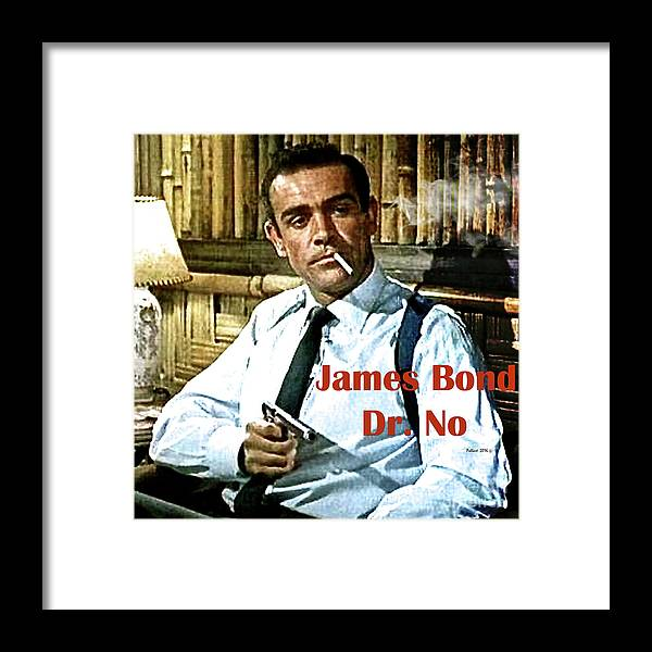 James Bond Framed Print featuring the mixed media 007, James Bond, Sean Connery, Dr No by Thomas Pollart
