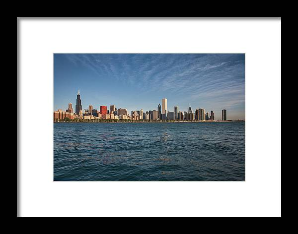 0102 Chicago Skyline Framed Print