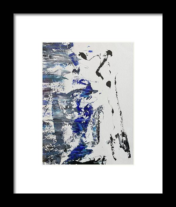 Bright Framed Print featuring the painting #01029 by Liyri Art