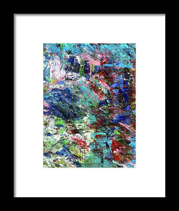 Bright Framed Print featuring the painting #01159 by Liyri Art
