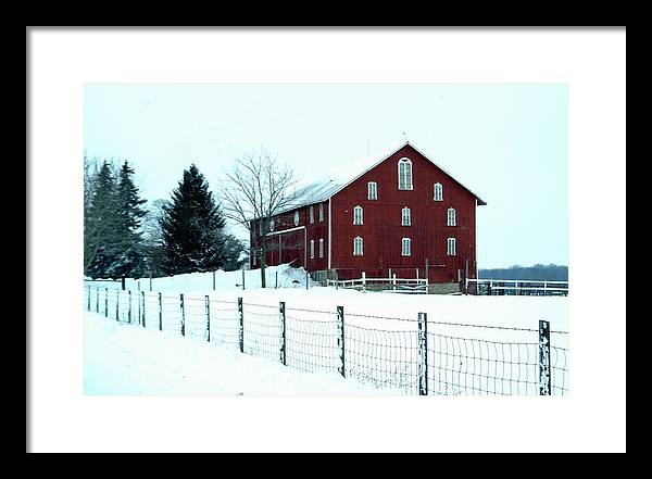 Barn Framed Print featuring the photograph 012909-7 by Mike Davis