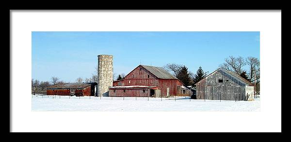 Farm Framed Print featuring the photograph 020309-70 by Mike Davis