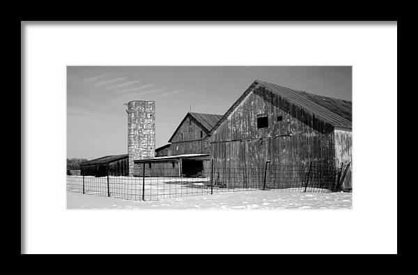 Barn Framed Print featuring the photograph 020309-74 by Mike Davis