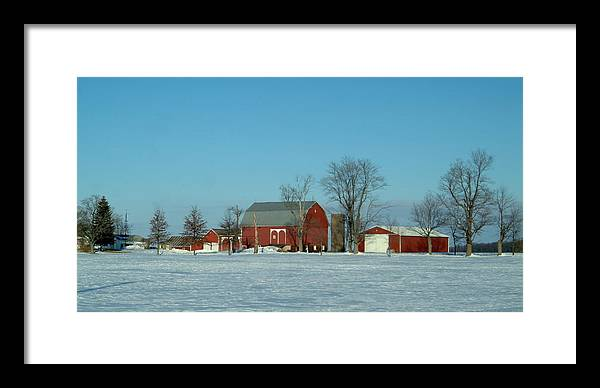 Barn Framed Print featuring the photograph 020409-3 by Mike Davis