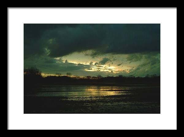 Sunset Framed Print featuring the photograph 021109-24 by Mike Davis
