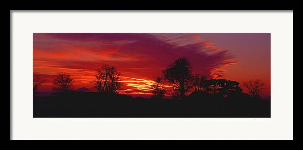 Sunset Framed Print featuring the photograph 022107-37 by Mike Davis