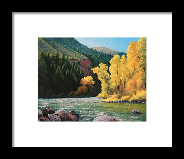 Landscape Framed Print featuring the painting 031008-1620  Fall Wardrobe by Kenneth Shanika