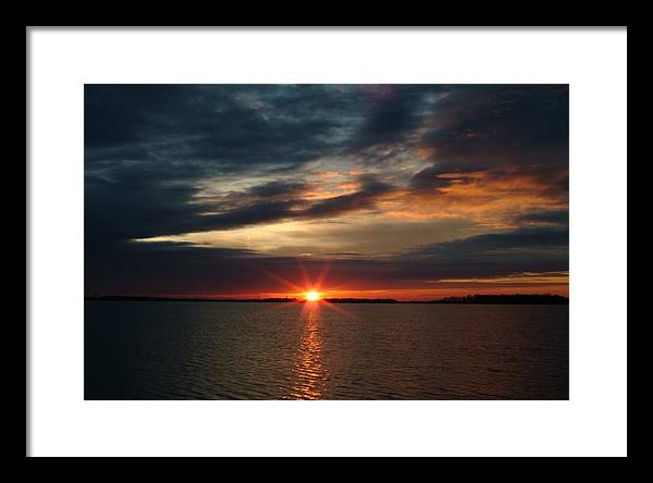 Sunset Framed Print featuring the photograph 041509-12 by Mike Davis