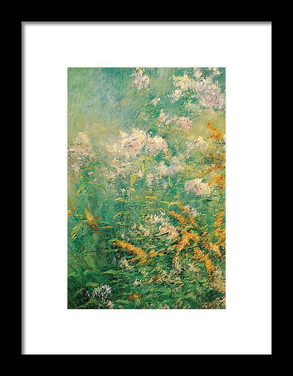 John Henry Twachtman Framed Print featuring the painting Meadow Flowers by John Henry Twachtman