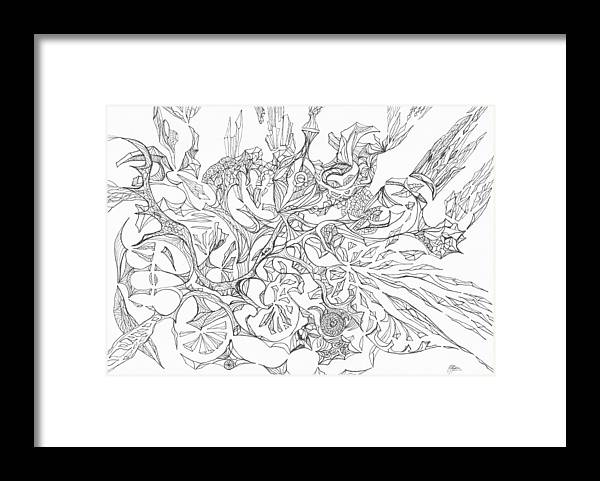Abstract Framed Print featuring the drawing 0511-3 by Charles Cater