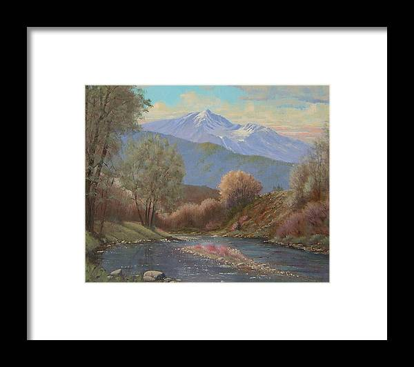 Landscape Framed Print featuring the painting 060630-1814 The Land Awakes In Spring  by Kenneth Shanika