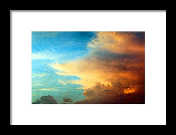 Cloud Framed Print featuring the photograph 072006-14e by Mike Davis