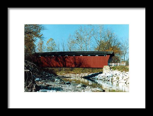 Bridge Framed Print featuring the photograph 072106-31 by Mike Davis