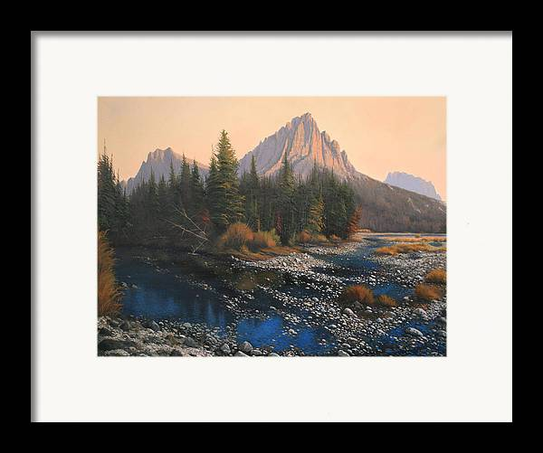 Autumn Framed Print featuring the painting 080414-4030 September Evening On Horse Thief Creek by Kenneth Shanika