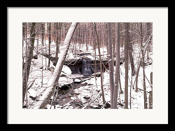 Waterfall Framed Print featuring the photograph 080506-48 by Mike Davis