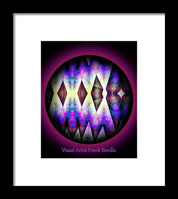 Art Framed Print featuring the digital art 080620172 by Visual Artist Frank Bonilla